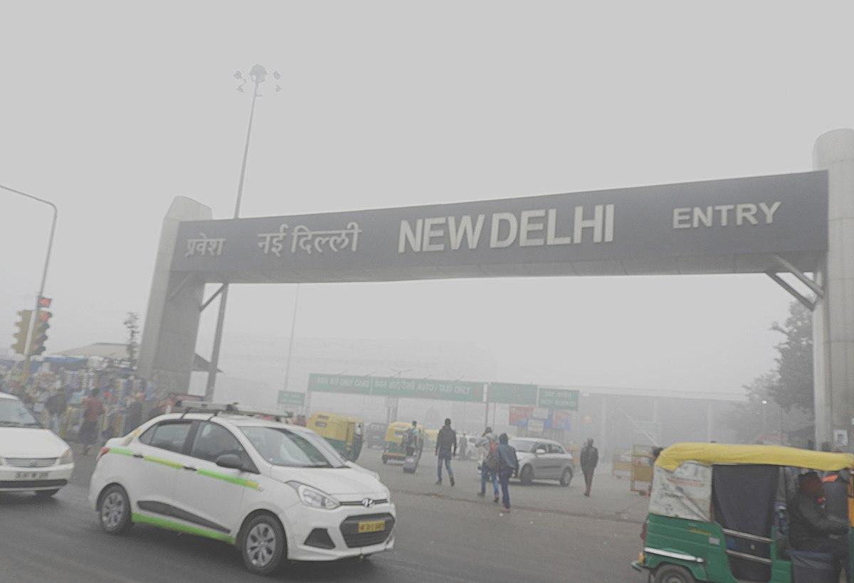 Смог возле железнодорожной станции Нью-Дели