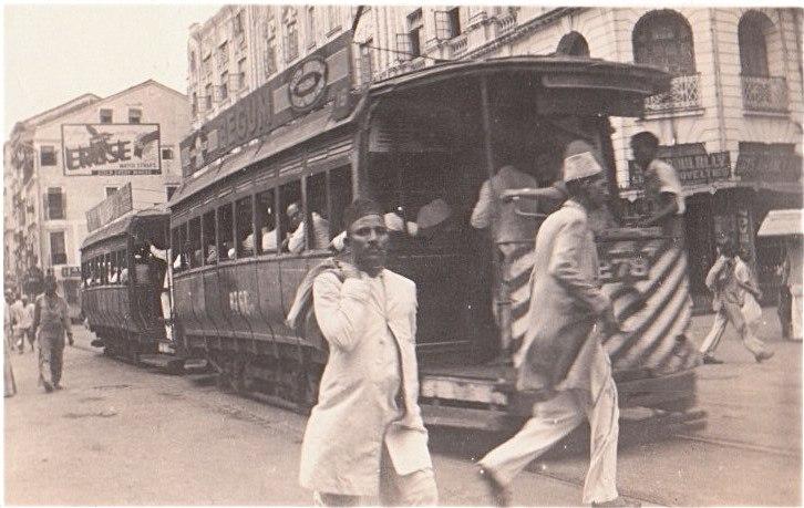 Улицы Бомбея в 1940-е годы