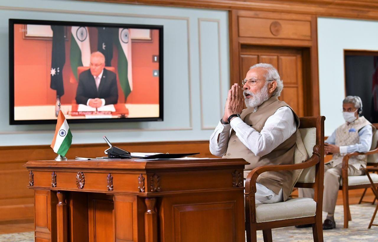 Виртуальный саммит Индии и Австралии