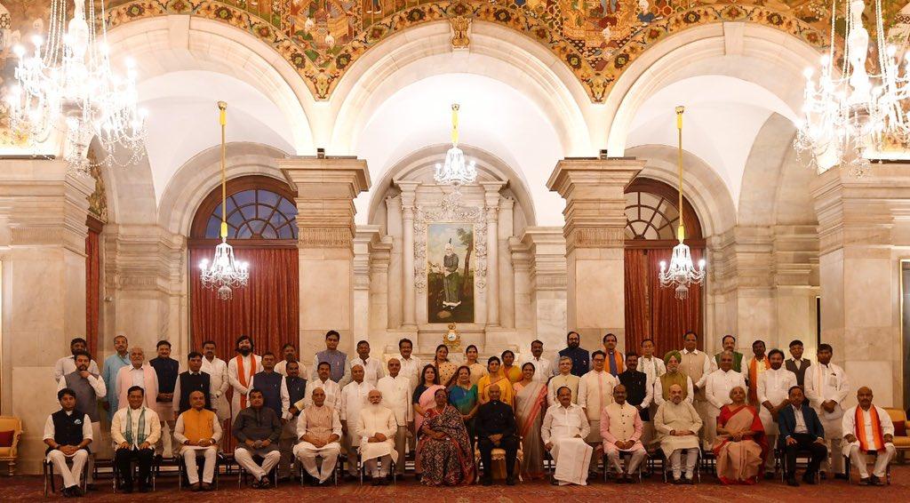 Нарендра Моди и новый кабинет министров